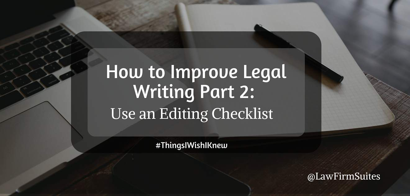 How to Improve Legal Writing