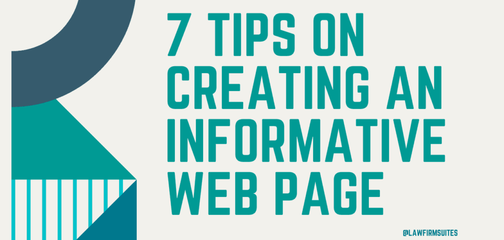 7 Tips On Creating An Informative Web Page